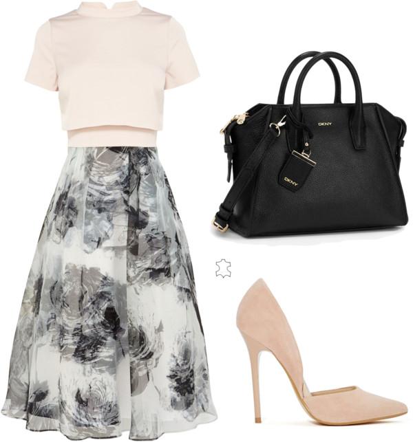 monochrome print dress