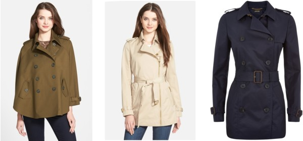 short trench coat $250 and under