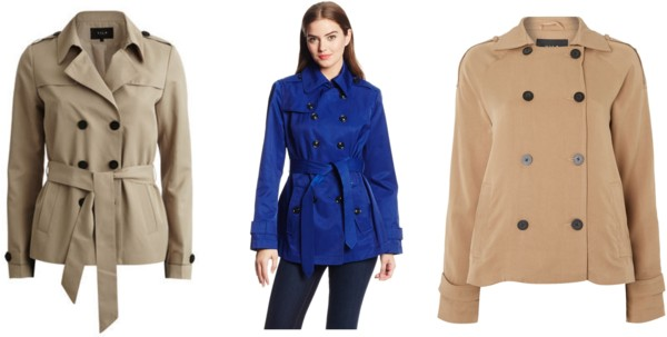short trench coats under $100
