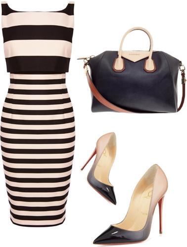 two in one stripe shift dress