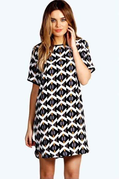 Geo Shift Dress