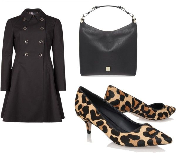 Leopard Print Kitten Heels Outfit