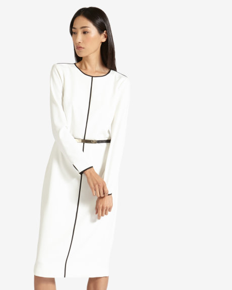 Monochrome midi dress for work