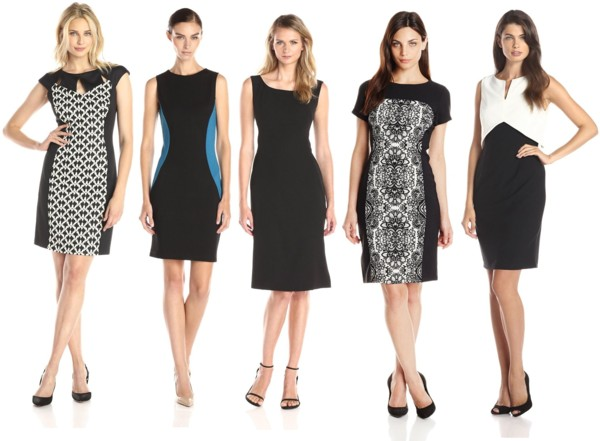 a hint of black sheath dresses for work