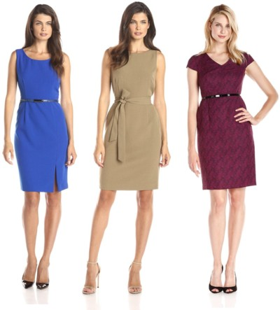 desk to date belted sheath dresses for work