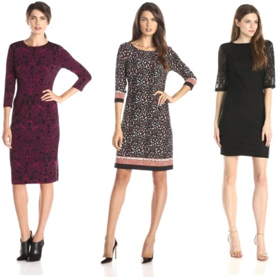 quarter sleeve printed work dresses for fall