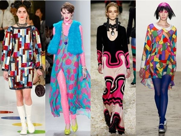 technicolor print dresses runway fall 2015