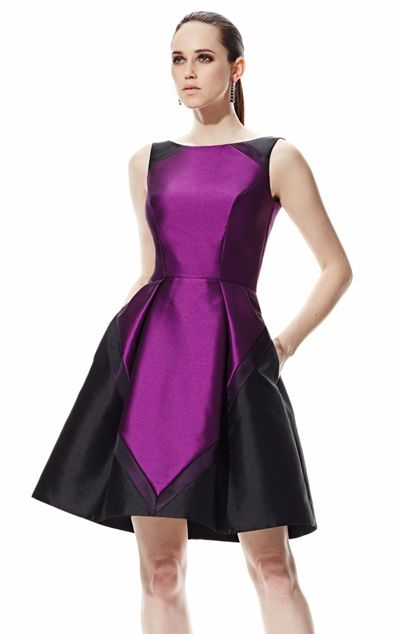 Color-Block Dress by Theia