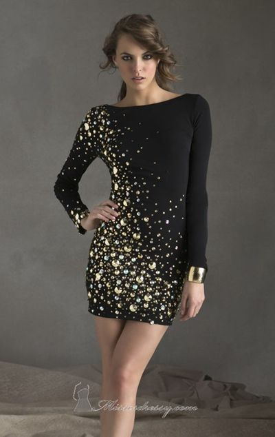 Embellished Jersey Dress by Sticks and Stones by Mori Lee