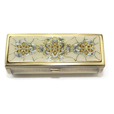 Enameled Lipstick Case with Mirror