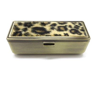 Lipstick Case with Faux Leopard Fur