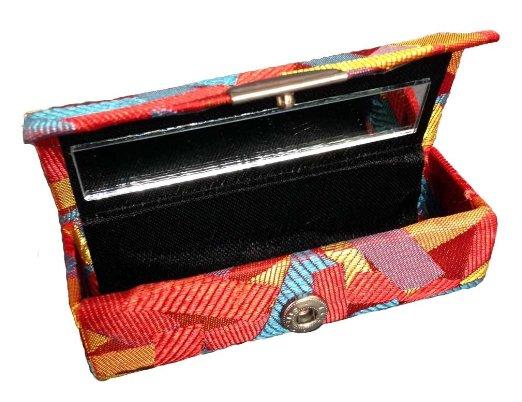 Multi color Confetti Design Lipstick Case with Mirror