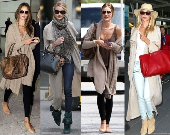 Rosie Huntington-Whiteley long cardigan outfits