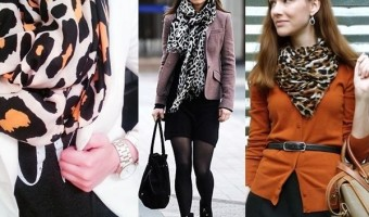 How to Wear the Fashionable Leopard Print Scarf to Work