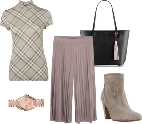pleated capris outfit