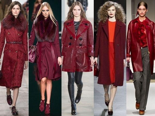 runway trend wine coats