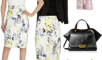 3 Style Strategies in Wearing Lace Pencil Skirts to Work