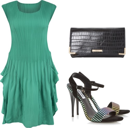 Pleated Sleeveless Dress Outfit