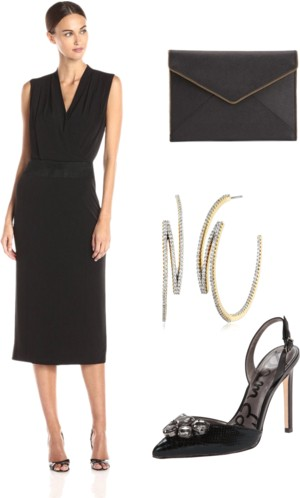 Sleeveless Dress with Contrasting Waistband