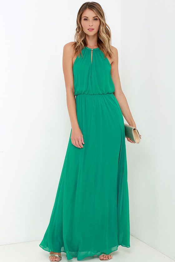 What a Night Green Maxi Dress