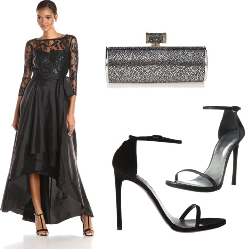 office party outfit Lace High Low Dress
