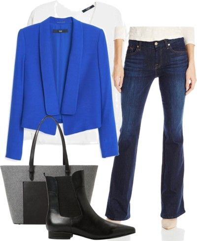 Flowy Flap Jacket with Flared Jeans