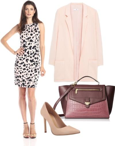 Pink Cheetah Sheath Dress
