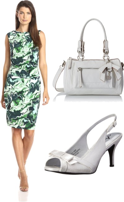 Printed Sleek Jersey Ruched Dress