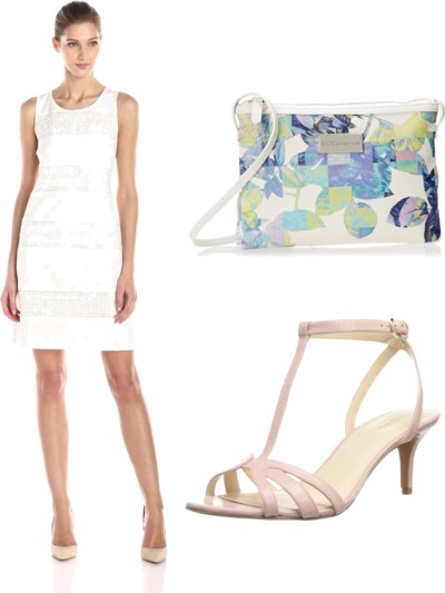 Sleeveless Sheath White Dress