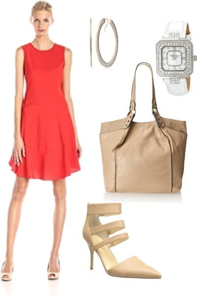 Tiered Shift Dress with Flounce Hem