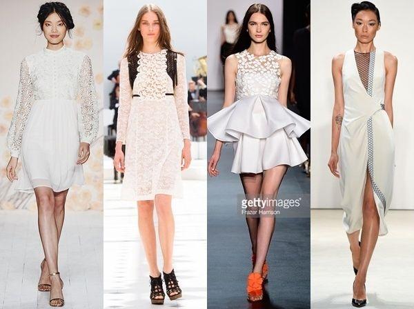 white dresses spring 2016 runway