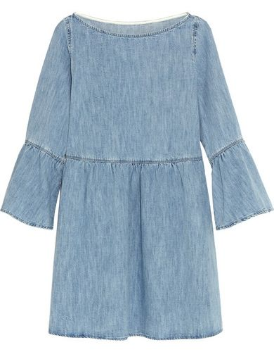 Bell Sleeve Denim Dress