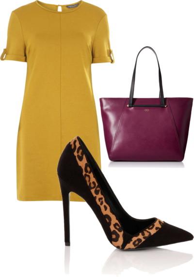 Black and Leopard Print Court Shoes
