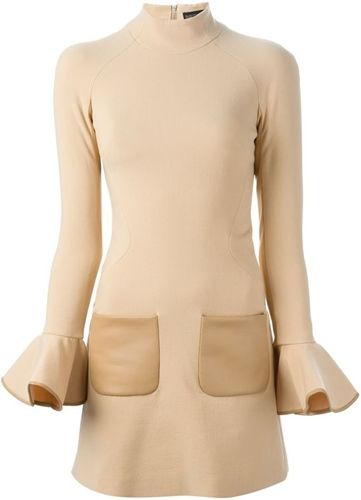 David Koma flared sleeve dress