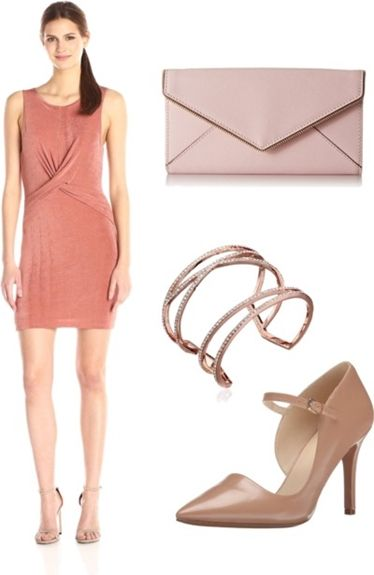 Dusty Rose Mini Dress