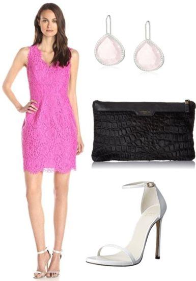 Lace V-Neck Sheath Dress