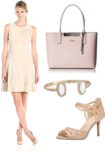 Latte Fit-and-Flare Dress