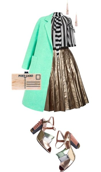 Seafoam Colored Coat for Evening Party