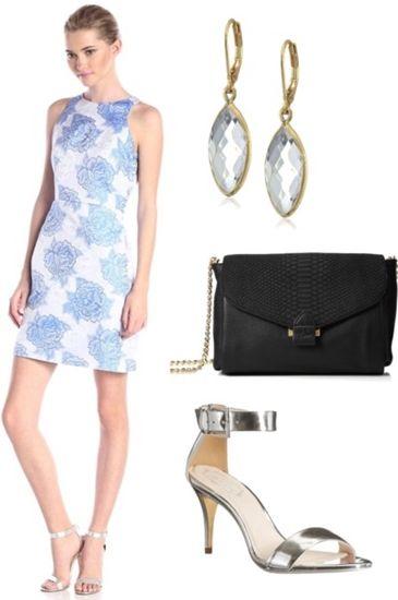 Sleeveless Floral-Print Dress
