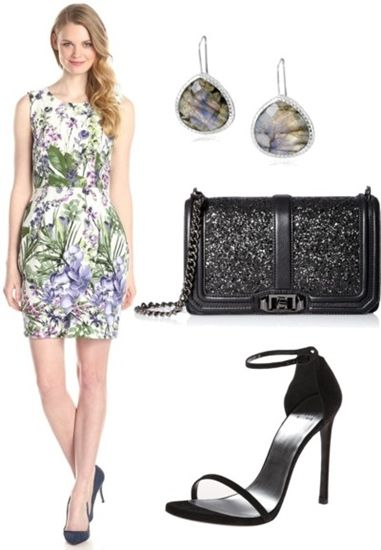 Sleeveless Floral-Print Tulip Dress
