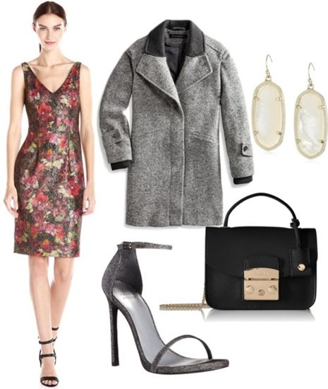 Sleeveless Metallic Scuba Cocktail Dress