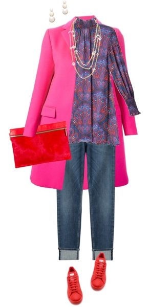 pink wool coat for the street