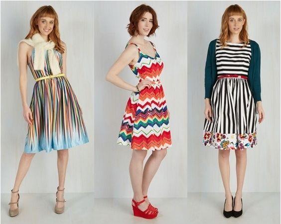 rainbow print dresses