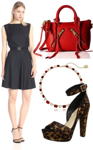 Classy Wool Fit-And-Flare Dress with Belt