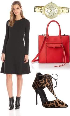 Long-sleeve A-line dress