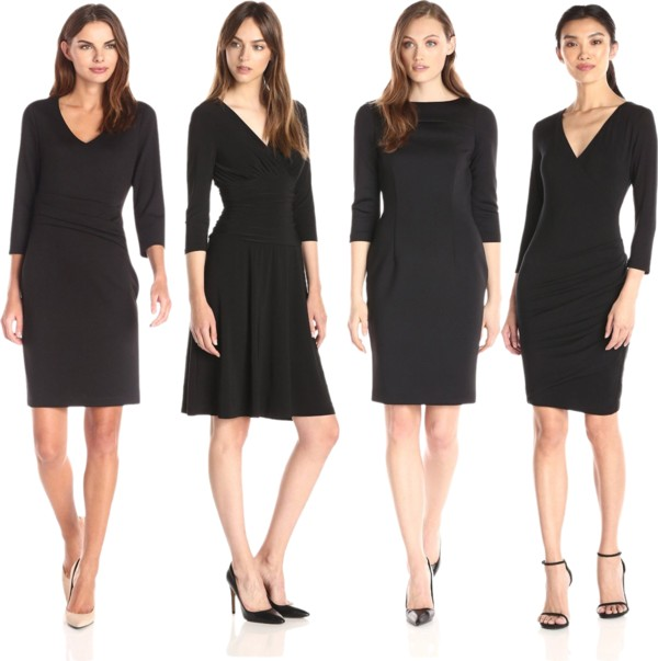 The Classic Black Quarter Sleeve Dresses