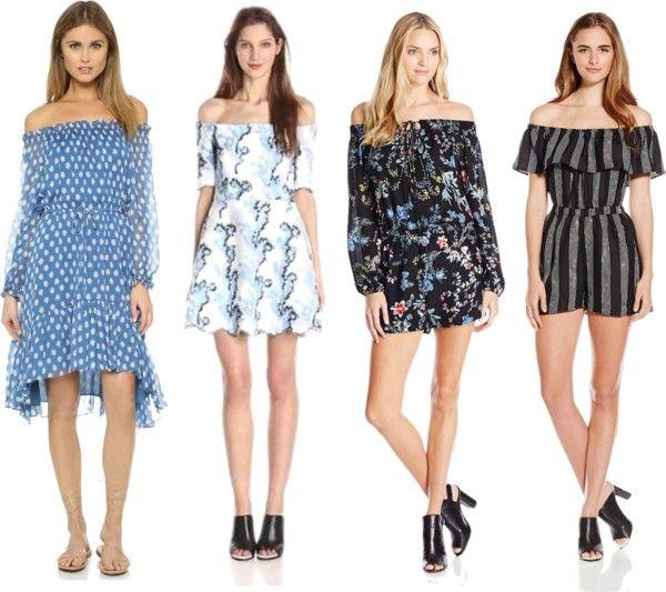 of shoulder dresses for spring