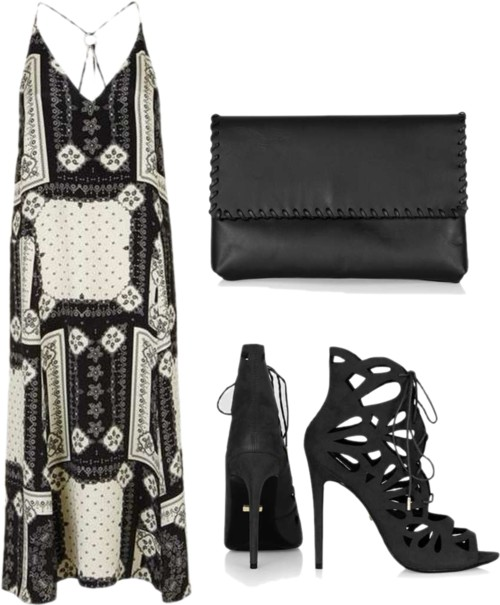 Bandana Print Ring Slip Dress