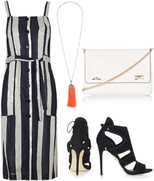 Stripe Pinafore Sun Dress