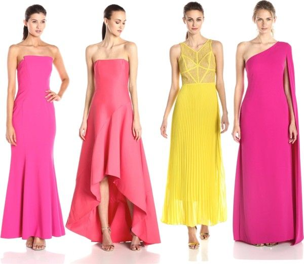 bold color evening dresses for red carpet look